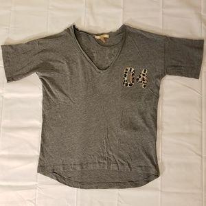 Zara Trafaluc 04 Ever Cheetah Print V-Neck Shirt
